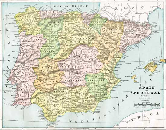 Mountains And Rivers of Spain Spain Map Rivers And Mountains